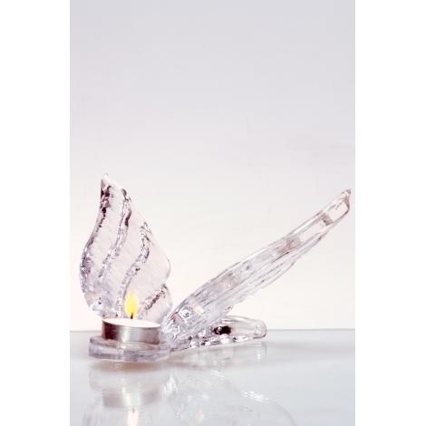 ANDĚL -  svícen křišťálový z kolekce uměleckého skla Bořka Šípka