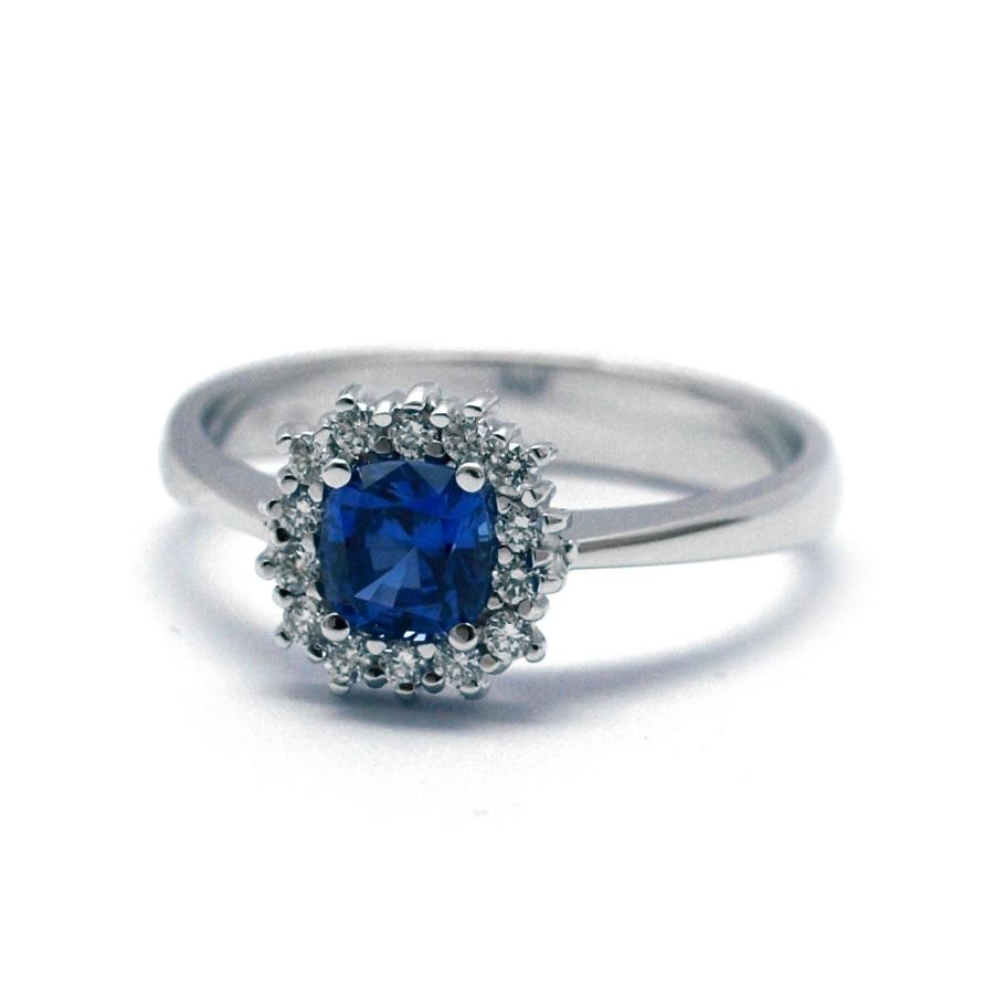 f05d84765 Diamantový prsten se safírem | DEAL Klenotnictví