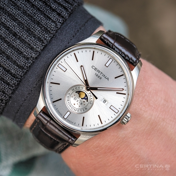 02076a84d9 Hodinky Certina DS-8 MOON PHASE C033.457.16.031.00