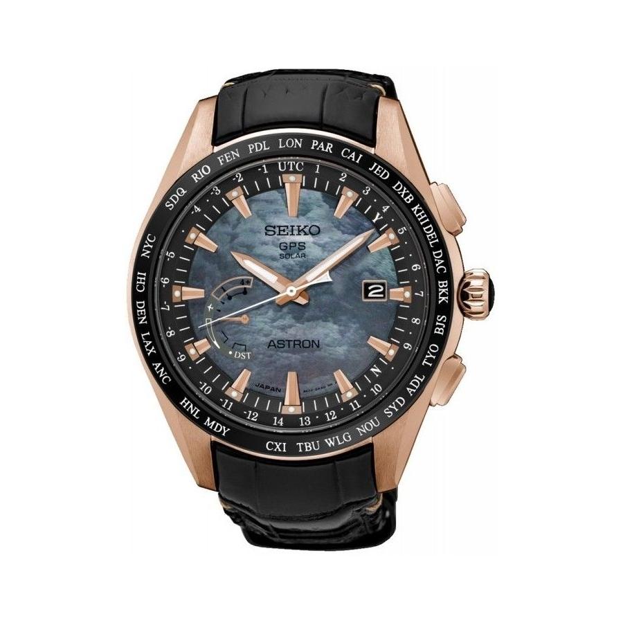 Pánské náramkové hodinky Seiko Astron SSE105J1 se solárním pohonem ... 369c10361b0