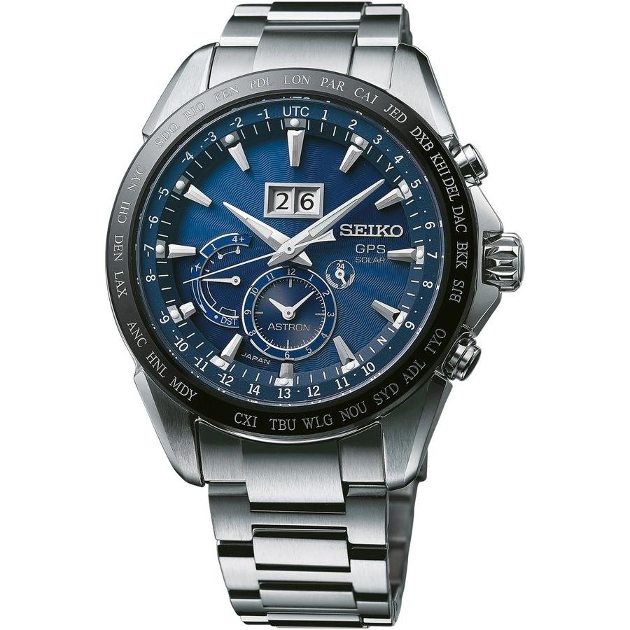 Pánské hodinky Seiko Astron SSE147J1 se solárním pohonem a s GPS ... 710f3b1bf9b