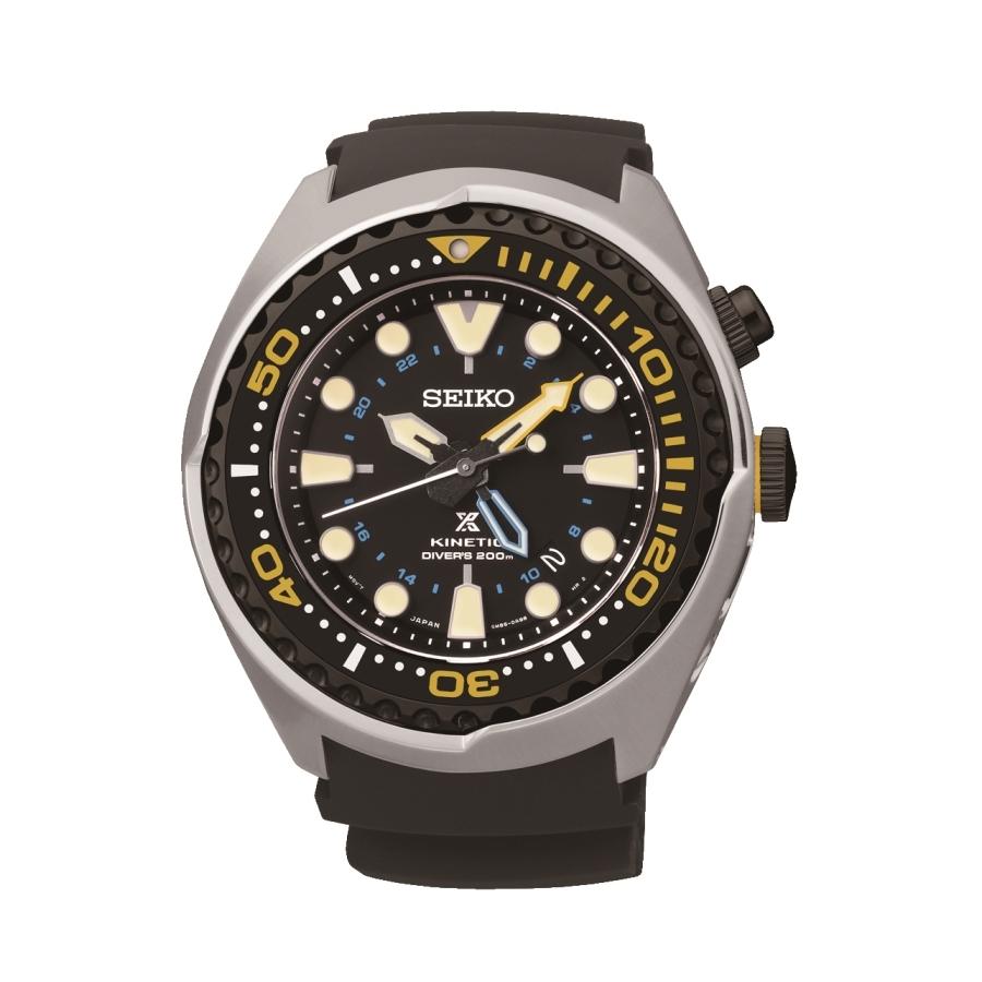 2cb50f527 Pánské hodinky Seiko Prospex SEA Kinetic GMT Diver SUN019P1   DEAL ...