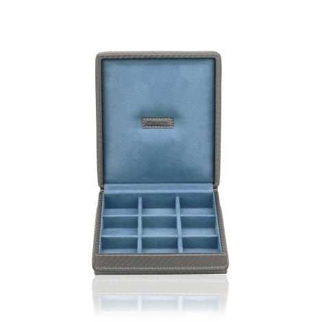 Kazeta na manžetové knoflíčky Friedrich Lederwaren Carbon  70021/302