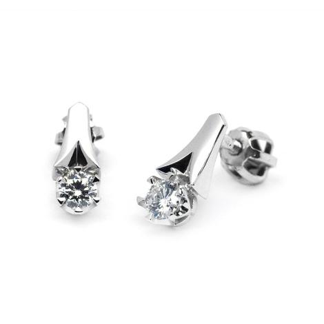 Náušnice s diamanty 34065