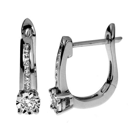 Náušnice s diamanty 45324E012