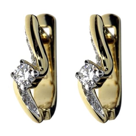 Náušnice s diamanty SAE00023Y