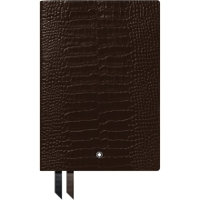 Notes Montblanc Croco Dark Brown linkovaný A5  118025