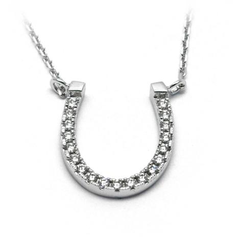 Přívěsek s řetízkem a diamanty 30026