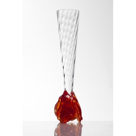 RŮŽE -  sklenice na víno z kolekce uměleckého skla Bořka Šípka